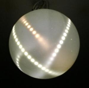 Светодиодные ленты в шарообразном светильнике